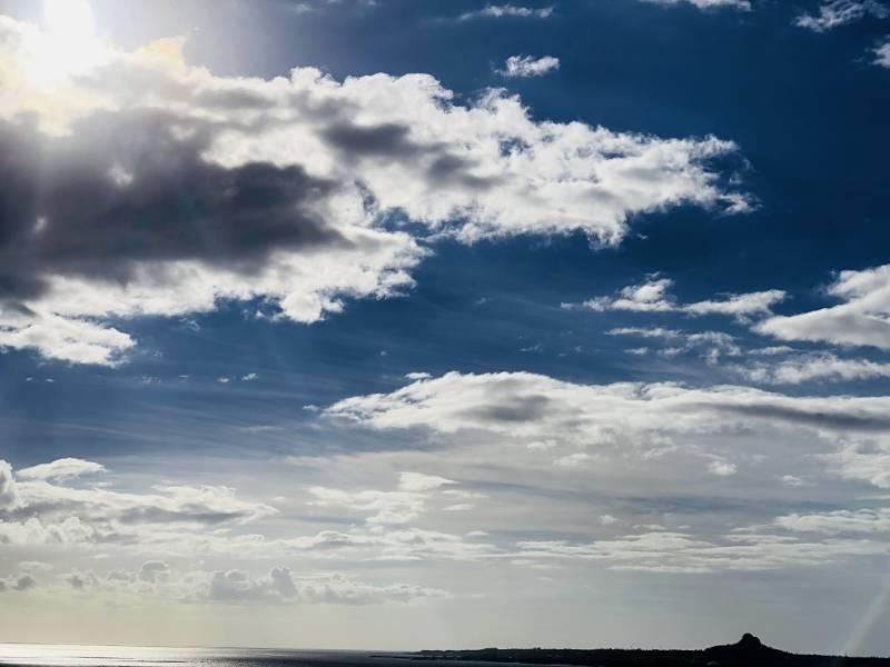 ゆがふいんBISEから見る、伊江島