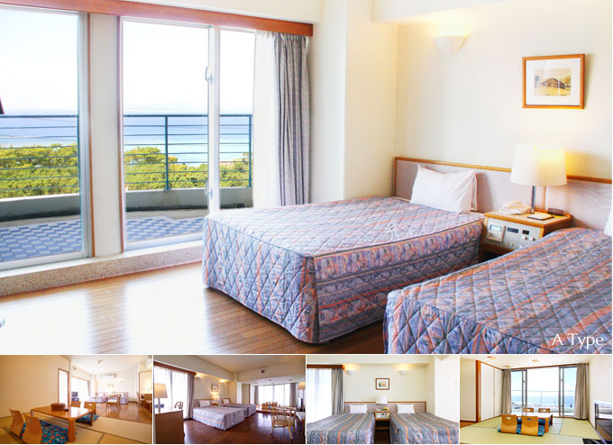 Rooms all rooms ocean view. Three kinds of comfortable extensive room types.